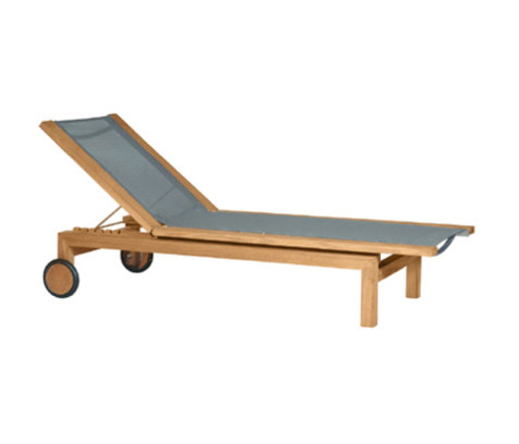 Kos Teak Light Lounger de Tribù | Méridiennes de jardin