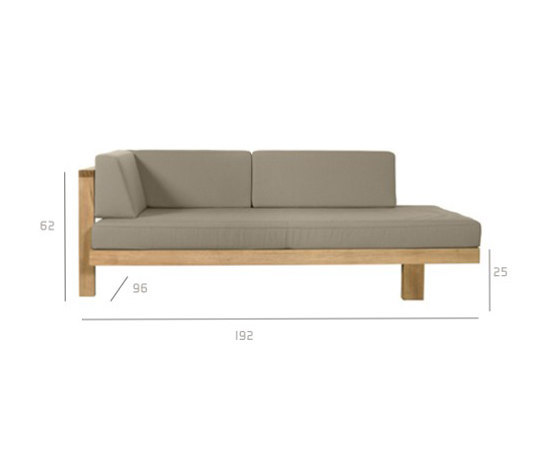 Pure Sofa Right arm by Tribù | Garden sofas