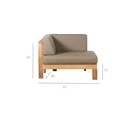 Pure Sofa Corner by Tribù | Garden armchairs