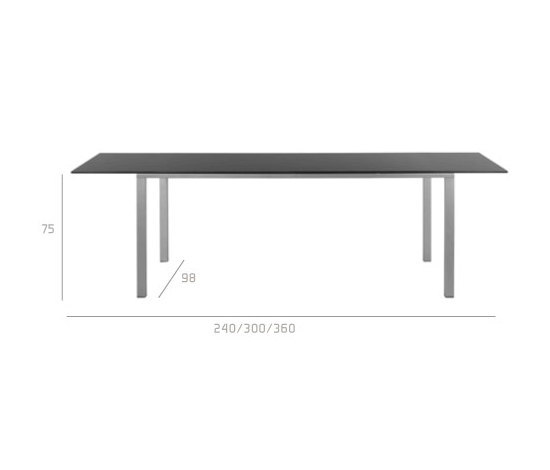 Mystral Extendable table by Tribù | Dining tables