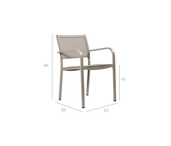 Picass Armchair by Tribù | Garden chairs