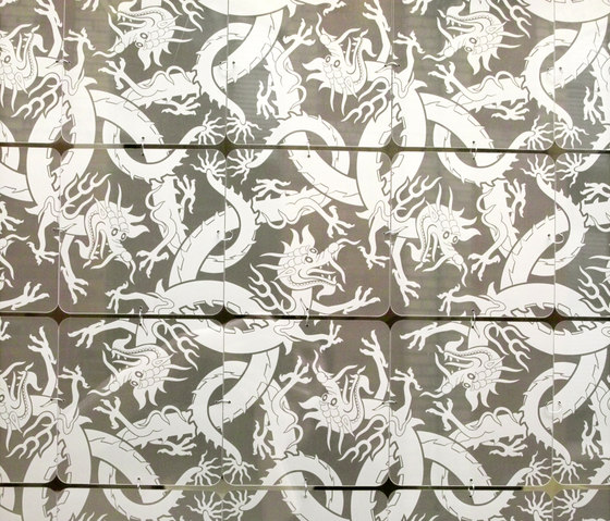 Nola Star pattern dragon by Nola Star | Vertical blinds