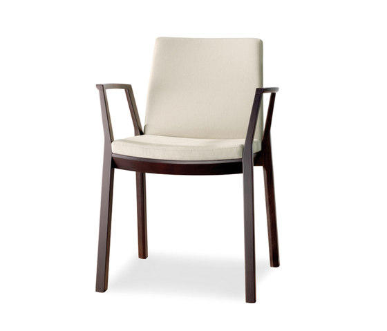 arta stacking chair with arms by Wiesner-Hager | Visitors chairs / Side chairs