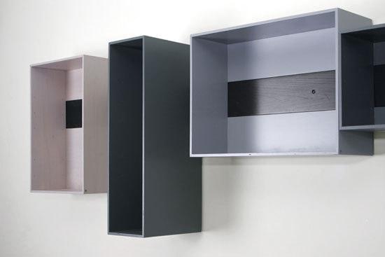 schieberegal ablagen konsolen von lutz h ning architonic. Black Bedroom Furniture Sets. Home Design Ideas