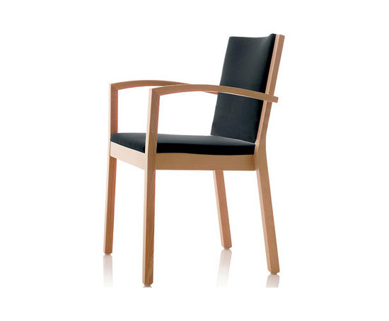 S13 chair with armrests de Wiesner-Hager | Sillas de visita