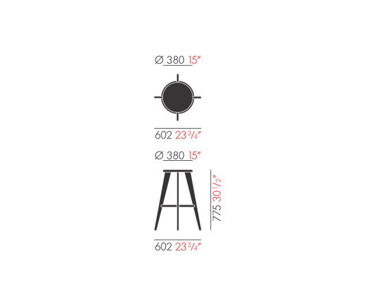 Tabouret Haut by Vitra | Bar stools