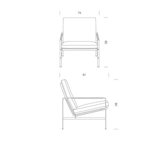 FK 6720-1 Easy Chair di Lange Production | Poltrone