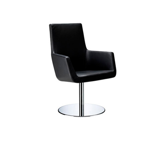 Happy swivel armchair by Swedese | Restaurant chairs