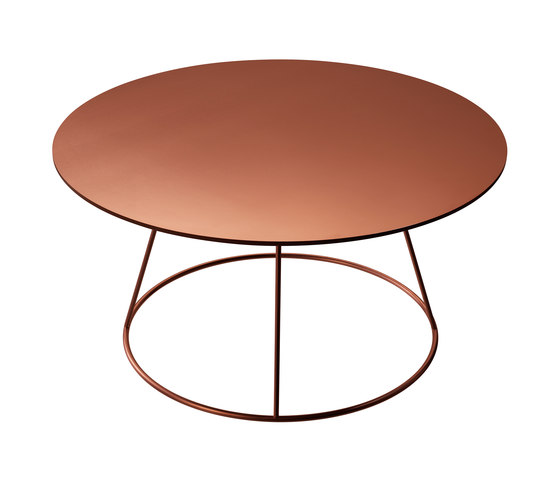 Breeze copper coffee table de Swedese | Mesas de centro