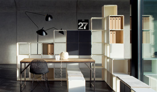 q170_homeoffice by qubing.de | Office shelving systems