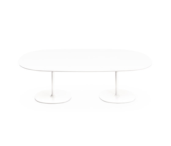 Dizzie | H 74 - Doppia base by Arper | Dining tables