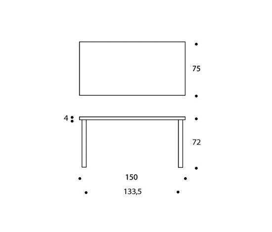 Table 81A de Artek | Tables de repas