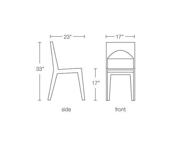 Hollow Dining Chair by Brave Space Design | Chairs