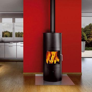 RONDO 120/92 by Attika Feuer   Steel stoves