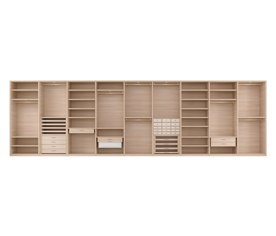 Senzafine system by Poliform | Walk-in wardrobes