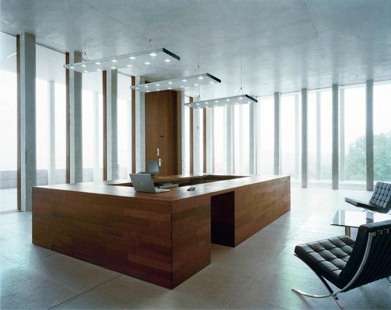 HYBRID LED Suspended Luminaire by H. Waldmann | Pendant strip lights