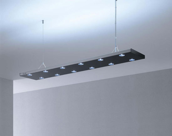 Hybrid led suspended luminaire pendant strip lights from for Suspente luminaire