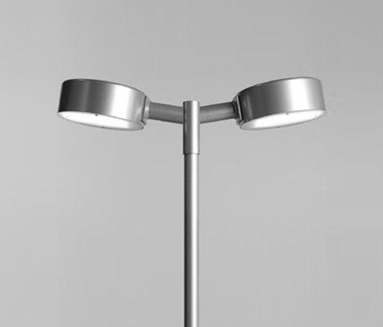 Tvåpuck pole fixture de ZERO | Luminaires pour zones piétonnes