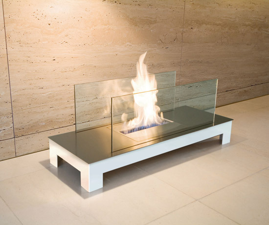 floor flame by Radius Design | Ventless ethanol fires