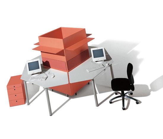 Meta Units de Fantoni | Systèmes de tables de bureau