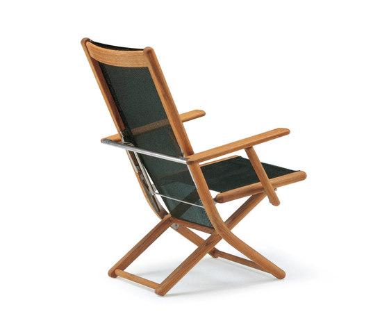 Tennis armchair adjustable di Fischer Möbel | Poltrone