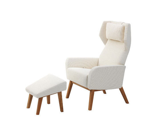 Select easy chair with footstool by Swedese | Lounge chairs with footstools