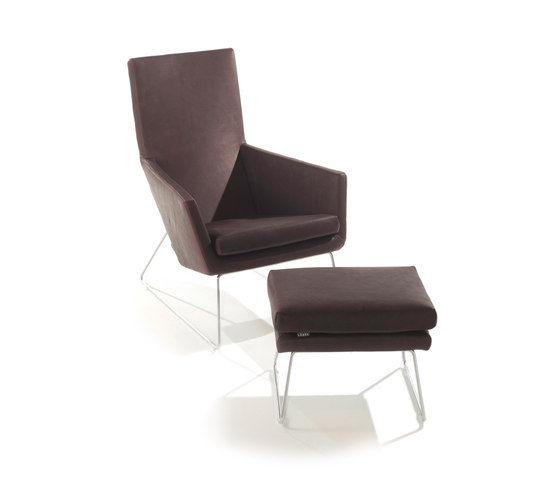 Don armchair with footstool von Label | Loungesessel