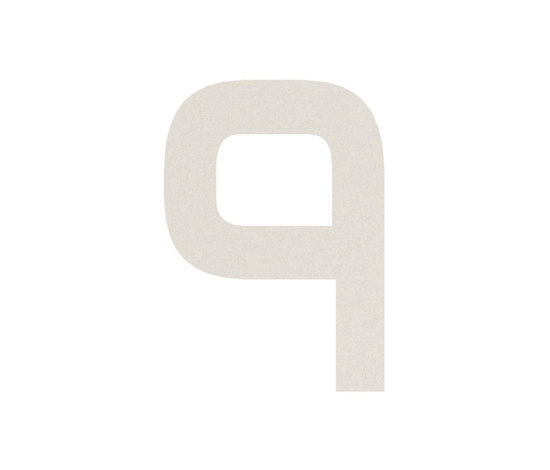 House No. aluminium by Serafini | House numbers / letters