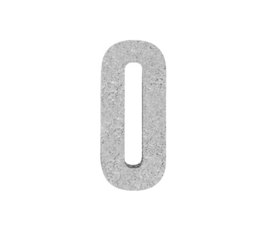 House No. stone grey de Serafini | House numbers / letters