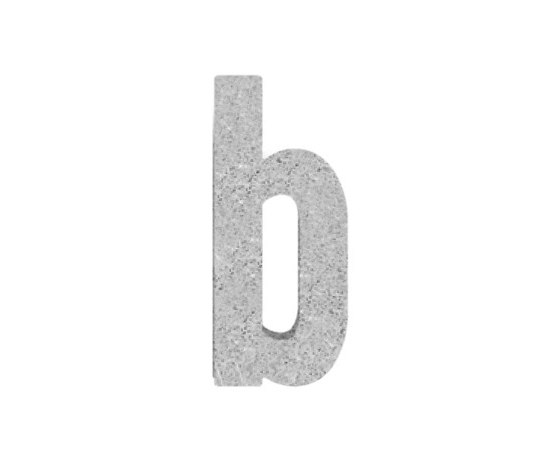 House No. stone grey by Serafini | House numbers / letters