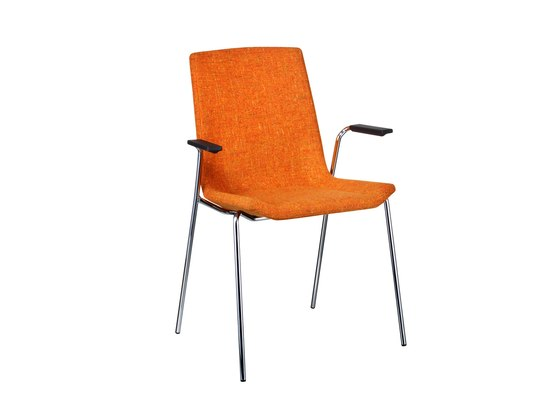 Happy stackable armchair de Swedese | Chaises