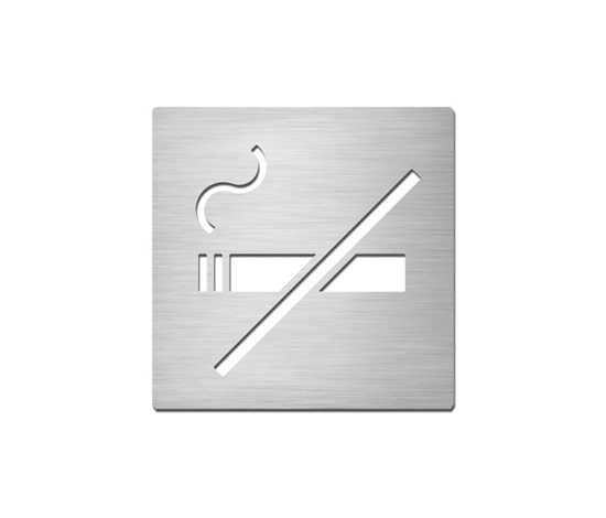 Pictograms square | stainless steel | Non-smoking by Serafini | Prohibition signs