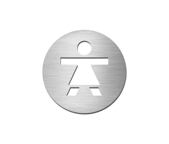 Pictograms round | stainless steel | Ladies by Serafini | Symbols / Signs