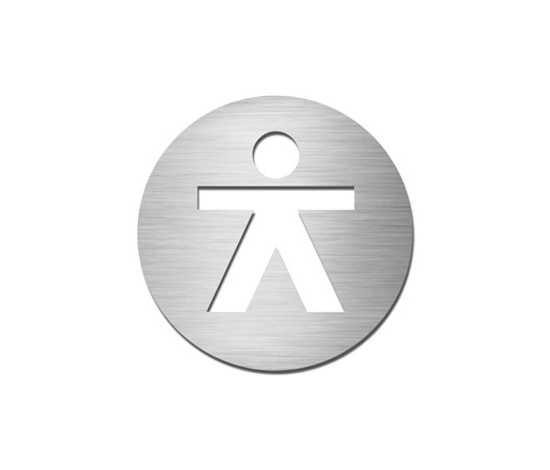 Pictograms round | stainless steel | Gentlemen by Serafini | Toilet signs