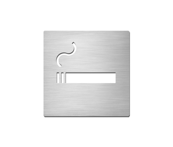 Pictograms square | stainless steel | Smoking by Serafini | Symbols / Signs
