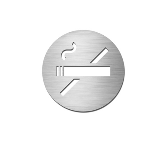 Pictograms round | stainless steel | Non-smoking di Serafini | Prohibition signs
