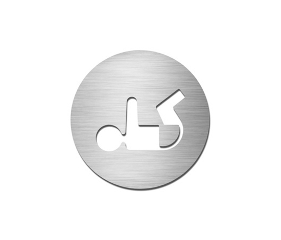 Pictograms round | stainless steel | Baby change by Serafini | Symbols / Signs
