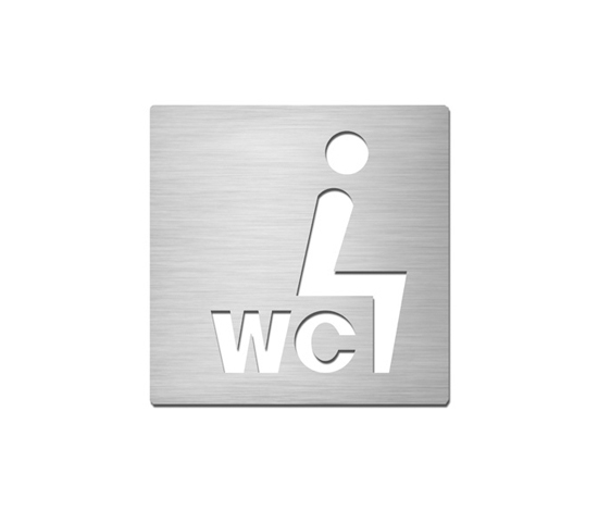 Pictograms square | stainless steel | Sit-down WC by Serafini | Toilet signs