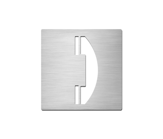 Pictograms square | stainless steel | Telephone by Serafini | Communication area signs