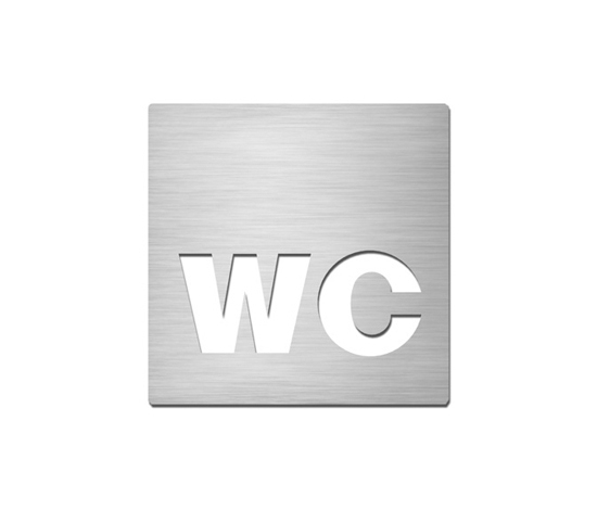 Pictograms square | stainless steel | WC by Serafini | Toilet signs