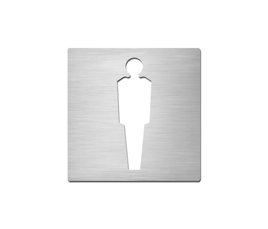 Pictograms square | stainless steel | Gentlemen by Serafini | Toilet signs