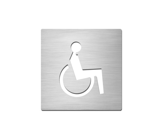 Pictograms square | stainless steel | Disabled by Serafini | Room signs