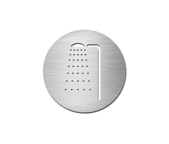 Pictograms round | stainless steel | Shower by Serafini | Symbols / Signs