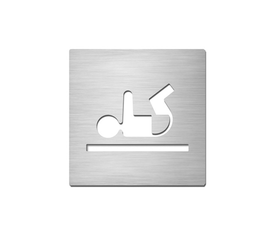 Pictograms square | stainless steel | Baby change de Serafini | Room signs