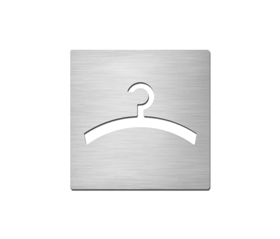 Pictograms square | stainless steel | Cloakroom by Serafini | Room signs