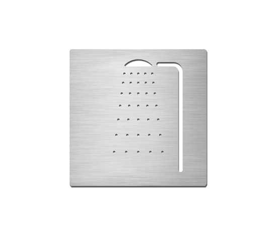Pictograms square | stainless steel | Shower by Serafini | Room signs