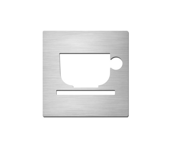 Pictograms square | stainless steel | Break room de Serafini | Room signs