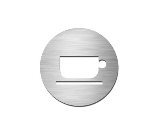 Pictograms round | stainless steel | Break room by Serafini | Room signs