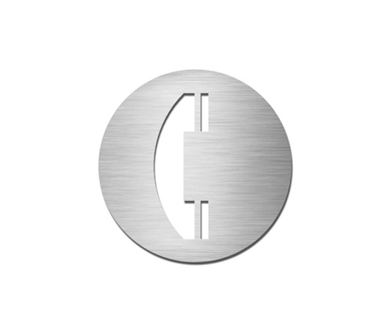 Pictograms round | stainless steel | Telephone by Serafini | Communication area signs