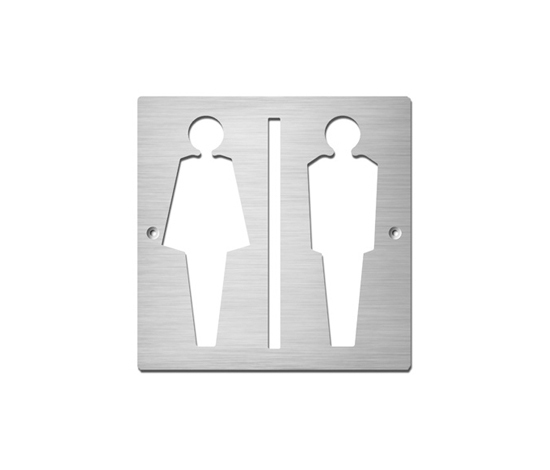 Ladies/Gentlemen by Serafini | Toilet signs